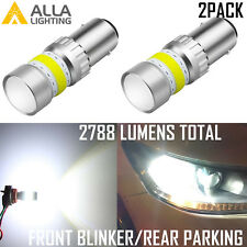 AllaLighting 1157 72-LED Front Turn Signal Blinker Light Bulb|Rear Parking White