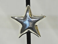 Vintage Sterling Tiffany & Co Star Puffed Brooch Pin Mexico - Very Nice!
