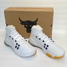 Under Armour Project Rock 1 White Gold Sz 11 3020788-108 Blood Sweat Respect NEW