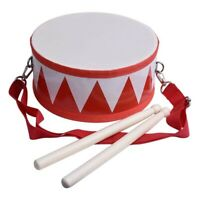 Kids Drum Wood Toy Drum Set with Carry Strap Stick for Kids Toddlers Gift  R4G2