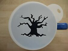 Laser cut scary tree design coffee and craft stencil