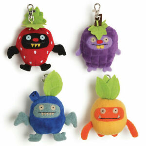 NEW Lot Gund Uglydoll Fruities Backpack Clips Stuffed Plush Toys- Set of 4