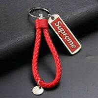 Brand New Supreme Leather Keychain Collection ( New) Red color made in Italy