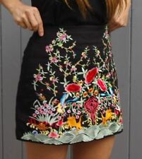 Zara Jacquard falda floral talla L ref. 4369 250