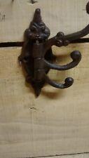 Fancy cast iron swivel coat hooks with 3 arms