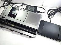Sanyo TRC-8080 Standard Compact Cassette Desktop Transcriber Transcription Kit
