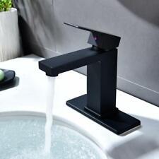 Bathroom Basin Faucet,Single Handle Lavatory Faucet Mixer Tap, Brass Matte Black