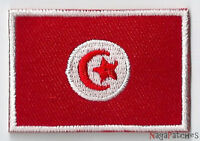 Écusson patch patche thermocollant drapeau Tunisie petit badge 45 x 30 mm