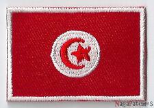 Écusson patch patche thermocollant drapeau Tunisie petit badge 45 x 30 mm
