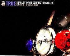 2011 HARLEY-DAVIDSON POLICE MOTORCYCLE BROCHURE -FLHP-FLHTP-XL883L-FIRE & RESCUE