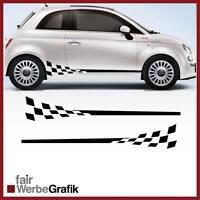 GT3 Look für alle Fiat 500 Modelle Racing Rennflagge Aufkleber #110