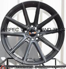 F1R F27 18X9.5 5X114.3/120 +38 Machined Gunmetal *New Cap* Wheels (Set of 4)