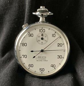 Aristo 100 Second Split Second Stopwatch / Timer | 7 Jewel Swiss Movement
