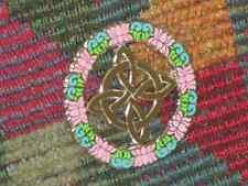 Lotus Flower Celtic Knot Wreath EDM Electronica Jam Band Enamel Lapel Hat Pin
