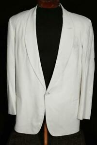 VINTAGE 1950'S AFTER SIX CREAM GABARDINE SHAWL COLLAR TUXED SIZE 43 REGULAR