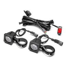 10W LED Motorbike Spotlight Kit with Wiring Harness, Switch, 50-51mm Fork Clamps