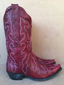 Old Gringo Grace Cowboy Boots Vesuvio Red Size 7 B Made In Mexico