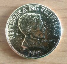 Terrific Gold Plated Philippines 1 Piso Jose Rizal 1985 Coin