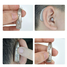 Rechargeable Digital Hearing Aid Severe Loss Invisible BTE Ear Aids High-Power #