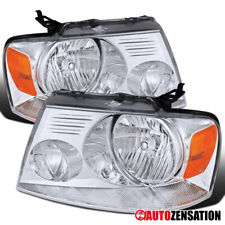 For 2004-2008 Ford F150 2006-2008 Lincoln Mark LT Clear Headlights Lamps+Amber