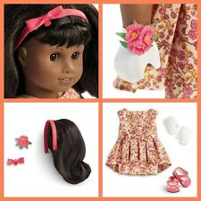 American Girl Melody Fancy Floral Dress plus Hairstyling Set only Jess Lea Grace