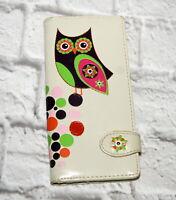 Shagwear Wallet Owl Coin Cards Bills Checkbook Bifold Pink Brown Green Orange