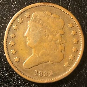 1832 CLASSIC HEAD HALF CENT RE-PUNCHED 'D'