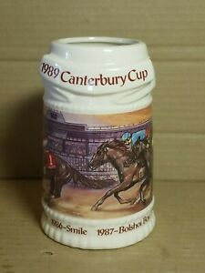 1989 Canterbury Cup Commemorative Stein Mug Limited Edition Horse Racing Winners