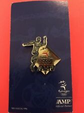 Sydney 2000 Olympic Games AMP Sponsor Pin - Runner on a backing board