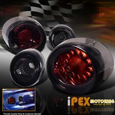 "2005-2010 Chevy Cobalt 2Dr 4Piece Bright LED Tail Lights ""Smokey Red"""