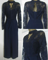 NEW Monsoon £79 Matisse Navy Lace Jumpsuit Choker Wide Leg Party Occasion 8-22