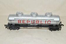 Ho scale Ok Trains Republic Oil petroleum three dome tank car train