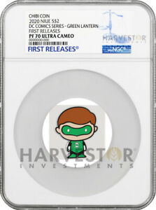 2020 CHIBI COIN - DC COMICS SERIES: GREEN LANTERN - NGC PF70 FIRST RELEASES