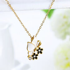 Wholesale 18K Yellow Gold Filled Butterfly Flower Pendant Necklace Gift