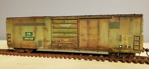 Penn Central/Conrail X72 Boxcar HO scale upgraded, Patched and custom weathered