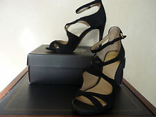 Vince Camuto Randee Black Suede Cross Over High Heel Sandal Size 7 M