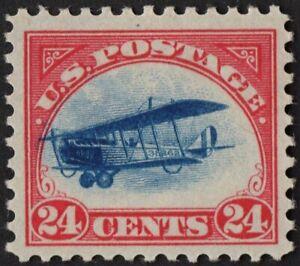 US # C3 *MINT OG H* { JUMBO -XF- 24c JENNY FAST PLANE VAR } BEAUTY 1918 AIRMAIL