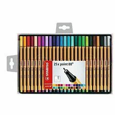 Ub0007oee9mu STABILO Point 88 Fineliner - Assorted Colours Wallet of 25