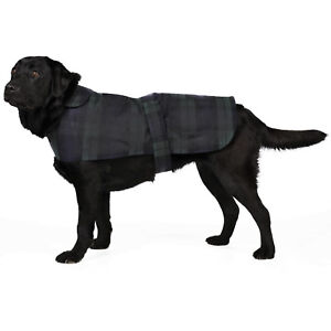 New Blackwatch Checkered British Wax Dog Coats Waterproof Waxed Cotton Raincoat