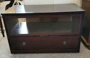 Vintage Mahogany Strongbow TV Unit with single drawer H48.5 W79.5 D43.5cm