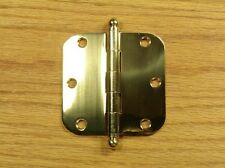 "Solid Brass with Ball tip pin 3 1/2"" Door Hinge 5/8 rad"