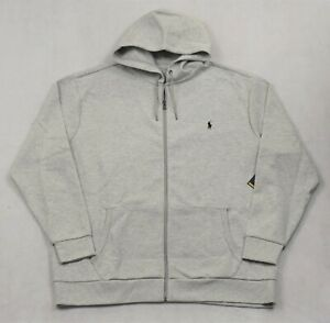 Polo Ralph Lauren Performance Hoodie Jacket Full Zip Gray 2XLT 2X Tall NWT $125