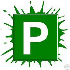 P plate sticker / decal Splash green pair