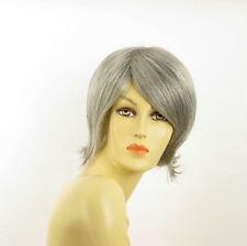 Perruque femme grise cheveux lisses ref  ROSY 51