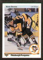 Kevin Stevens signed autograph 1990-91 Upper Deck Card