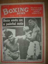 BOXING NEWS OCTOBER 16 1987 CORNELIUS BOZA-EDWARDS v JOSE LUIS RAMIREZ