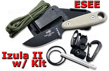 ESEE Izula II Micarta w/ Complete Kit IZULA-II-B-KIT