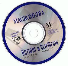 Macromedia Action! v. 2.5 SE and ClipMedia v. 2 SE (PC, 1993)