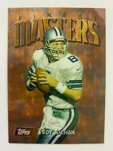 1997 Topps Finest Gold / Rare Refractor TROY AIKMAN #172, Cowboys HOF