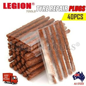 Tyre Repair Plugs Car Tire Puncture Recovery Tyre Tubeless Seal Plugs Strip 40PC